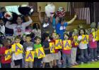 "Seventh Ward students and teachers have a pep rally for their recent school performance grade of an ""A."""